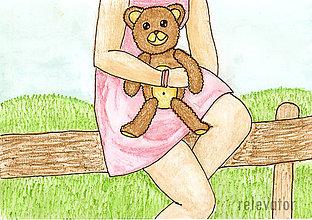 Kresby - Mám medvedíka - 6981202_