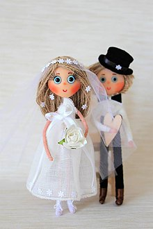 Bábiky - Nevestička Lenka a ženích Stanko - 6983789_