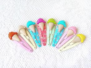 Ozdoby do vlasov - Mini Pin Up hair clips (ice cream) - 6984627_