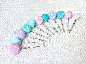 Ozdoby do vlasov - Pastel love hair pins - 6984703_