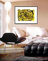 Obrazy - Žlto-čierny - 6984437_