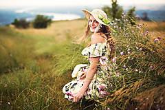 Čiapky - Letný trstinový dámsky klobúk  - 6985096_