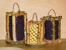 Svietidlá a sviečky - vintage svadba/ svietnik L (lampáš) - 6984718_