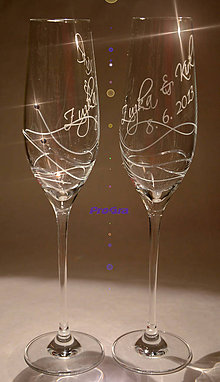 Nádoby - Gabrielle - svadobné poháre 2 ks - 6984021_