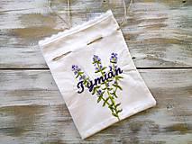 Úžitkový textil - bylinkové vrecúško Tymián - 6985368_