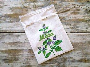 Úžitkový textil - bylinkové vrecúško Mäta - 6985341_