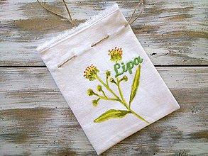 Úžitkový textil - bylinkové vrecúško Lipa - 6985431_