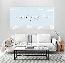 Grafika - Let žeriavov nad vrchmi - 6984972_