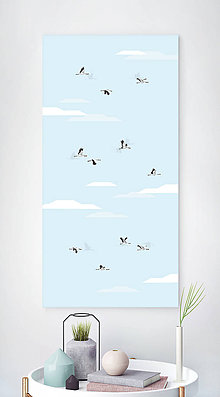 Grafika - Let žeriavov - formát na výšku - 6985649_
