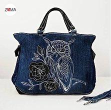 Kabelky - MONA Owl kabelka do ruky aj na plece - 6984497_