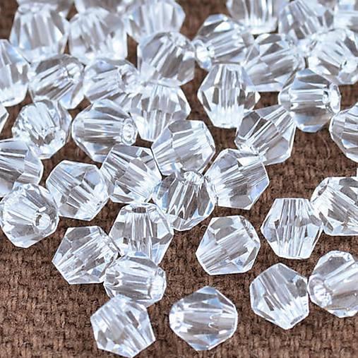 Bicone - Crystal Clear /4mm/ 10ks