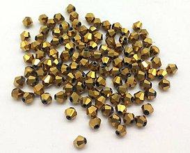 Korálky - Bicone  - Gold/4mm/ 10 ks - 6986220_