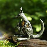 Iné šperky - Kengura s mláďatkom - 6987642_