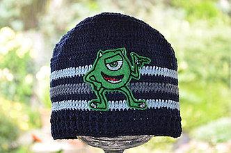 Detské čiapky - Skladom- Háčkovaná čiapka - 6987516_