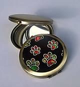 Zrkadielka - Barevné tlapičky - zrcátko do kabelky - 6987718_