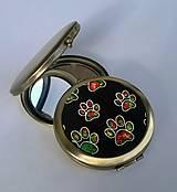 Zrkadielka - Barevné tlapičky - zrcátko do kabelky - 6987719_