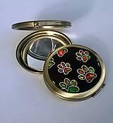 Zrkadielka - Barevné tlapičky - zrcátko do kabelky - 6987720_