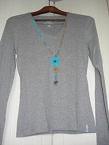 Tričká - Sivé Indian spirit - tričko s dlhým rukávom - 6986701_