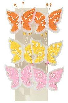 Iný materiál - Motýliky z filcu 4,5cm na klipe - 6986648_