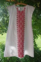 Šaty - Vyšívané ľanové šaty - 6986686_
