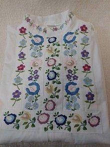 Oblečenie - Košeľa  Hriňová  s hladkovanou výšivkou Emil - 6986968_
