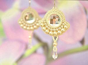 Náušnice - Svadobné perličkové náušnice ivory, striebro Ag - 6987109_