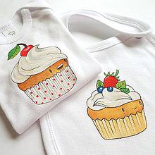 Detské oblečenie - Body čerešňový koláčik - 6988533_