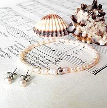 Sady šperkov - Freshwater Mini Pearls Set / Sada náušníc a náramku s perlami - 6988565_