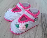 Topánočky - Balerínky s ružou - 6988521_