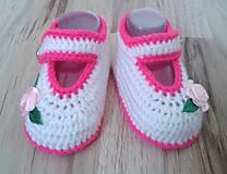 Topánočky - Balerínky s ružou - 6988523_