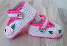 Topánočky - Balerínky s ružou - 6988524_