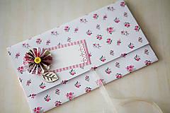 Papiernictvo - Scrapbook obálka na peniaze - ružičky - 6988297_
