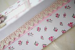 Papiernictvo - Scrapbook obálka na peniaze - ružičky - 6988299_