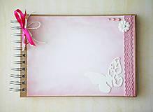- Kniha hostí / fotoalbum - ružová - 6988312_