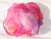 Šatky - Hodvábna šatka  -  pink - 6987847_