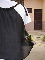Topy - Hodvábny top, čierny, - 6987861_