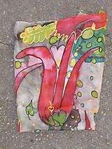 Šatky - Hodvábna šatka, tulipánová - 6987873_