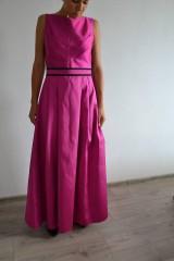 Šaty - Spoločenské šaty s čiernou krajkou - 6988494_