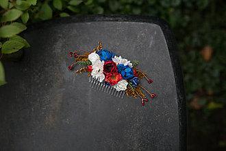 Ozdoby do vlasov - Kvetinový hrebienok... na želanie - 6990023_
