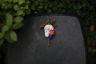 Pierka - Kvetinové pierko pre ženícha... na želanie - 6990028_