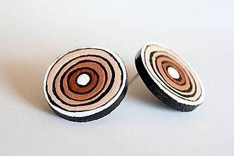 Náušnice - maľované náušnice - letá v kruhoch - 6988260_