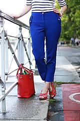 Nohavice - Modré nohavice skrátenej dĺžky - 6989628_