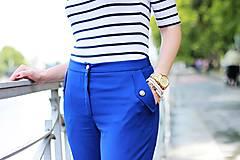 Nohavice - Modré nohavice skrátenej dĺžky - 6989629_