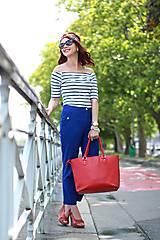 Nohavice - Modré nohavice skrátenej dĺžky - 6989630_