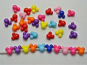 Korálky - Plastové korálky myšky (balíček 10ks) - 6988833_