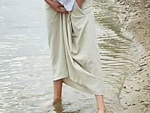 Sukne - Ľanová sukňa - 6990107_