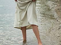 Sukne - Ľanová sukňa - 6990110_