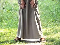 Sukne - Ľanová sukňa - 6990117_