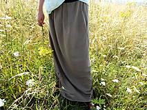 Sukne - Ľanová sukňa - 6990118_