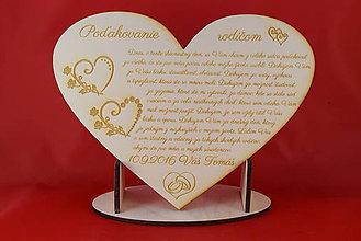 Darčeky pre svadobčanov - Drevene srdiečko ako poďakovanie rodičom 12 - 6989049_